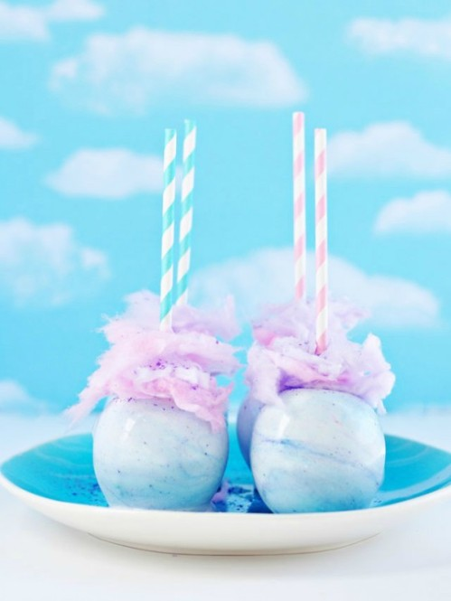 Cotton Candy Apples