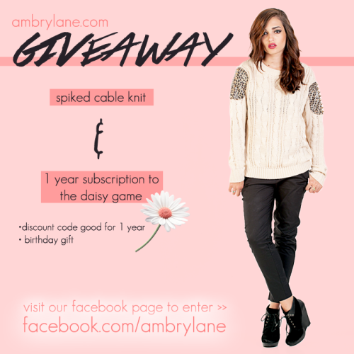giveaway daisy sweater