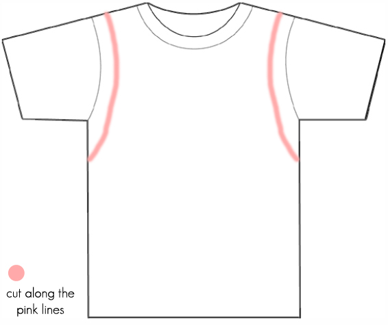 how to cut the form of a shirt